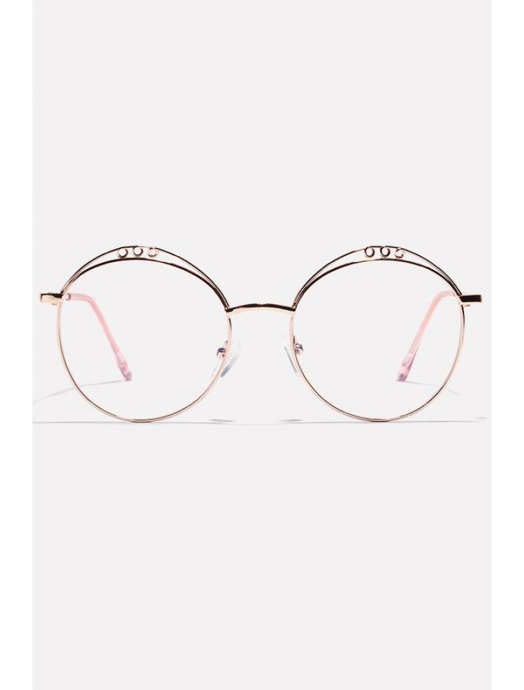 Gold /& Clear Round Sunglasses